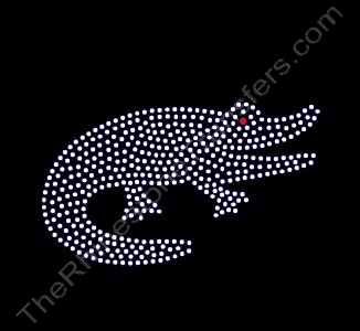 Alligator - 6 Inches - Rhinestone Transfer