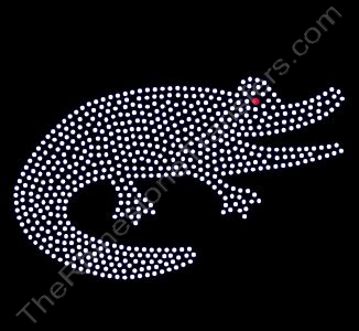 Alligator - 7 Inches - Rhinestone Transfer