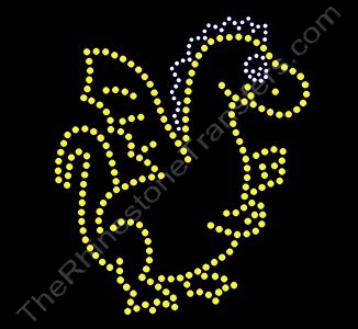 Dragon - Citrine & Clear - Rhinestone Transfer