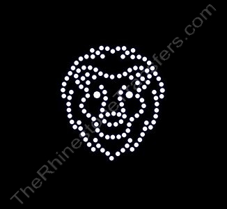 Lion Head - Small - Rhinestone Transfer