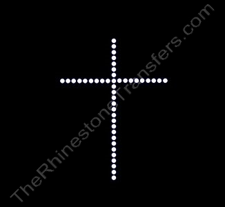 Cross - Small Single Row - Rhinestone Transfer