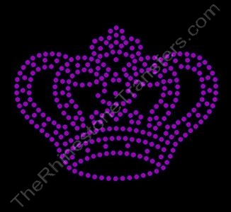 Crown - Small - Amethyst - Rhinestone Transfer