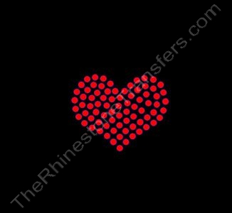 Heart - 1 Inch - CUSTOMIZE YOUR COLORS - Rhinestone Transfer