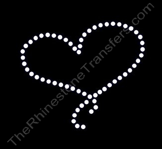 Small String Heart - Rhinestone Transfer