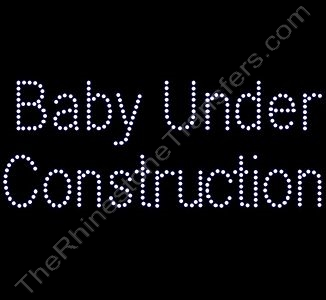 Baby Under Construction - Rhinestone Design File Download