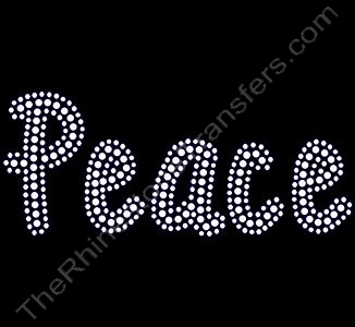 Peace - Pea Faith Font - Rhinestone Design File Download