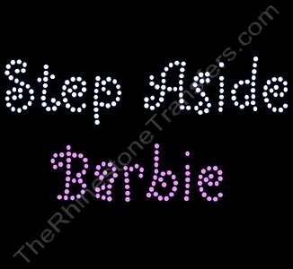 Step Aside Barbie - Rhinestone Design File Download