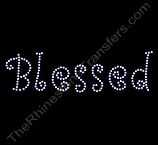 Blessed - Curlz Font - Rhinestone Design File Download