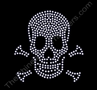 Skull and Crossbones - Medium - Rhinestone Design File Download