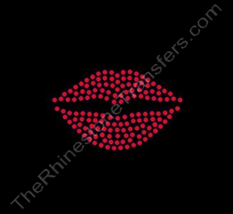 Lips - 3 Inches - CUSTOMIZE YOUR COLORS - Rhinestone Design File Download