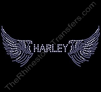 HARLEY with Wings - Rhinestone Design File Download