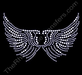 Open Wings - Rhinestone Design File Download