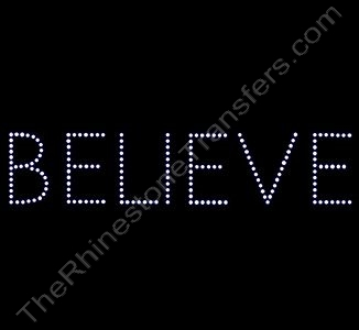 BELIEVE - Block Font - Rhinestone Design File Download