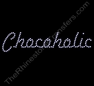 Chocoholic - Script - Rhinestone Design File Download