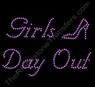 Girls Day Out with Pink Shoe - Nuptial Font - Rhinestone Design File Download
