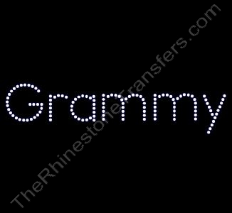 Grammy - Block Font - Rhinestone Design File Download