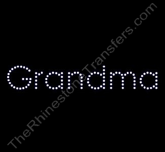 Grandma - Rhinestone Design File Download