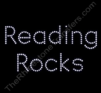 Reading Rocks - Rhinestone Transfer