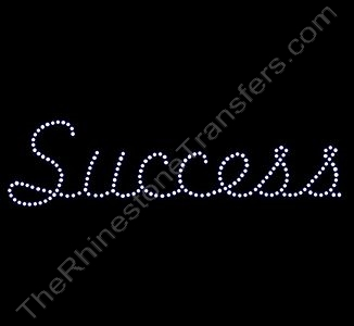 Success - Freehand Font - Rhinestone Transfer