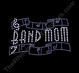 BAND MOM - Ribbon - Small - Rhinestone Design File Download