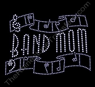 BAND MOM - Ribbon - LARGE - Rhinestone Design File Download