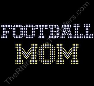 FOOTBALL MOM - Varsity Font - Citrine - Rhinestone Design File Download