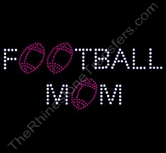 FOOTBALL MOM - with Red Footballs for O's - Rhinestone Design File Download