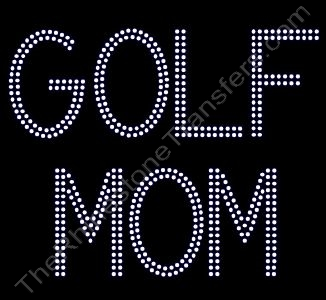 GOLF MOM - 2 Rows of Stones - Rhinestone Design File Download