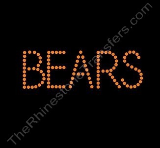 BEARS - Orange - Rhinestone Design File Download