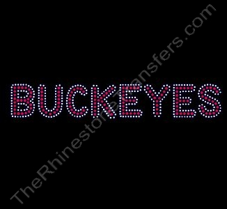 BUCKEYES - 3 Rows of Stones - Rhinestone Design File Download