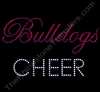Bulldogs CHEER - Rhinestone Design File Download