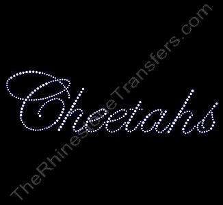 Cheetahs - Fancy Script - Rhinestone Design File Download