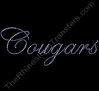 Cougars - Fancy Script - Rhinestone Design File Download