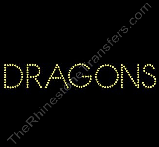 DRAGONS - Style 1 - Citrine - Rhinestone Design File Download