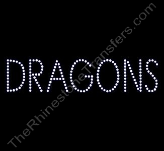 DRAGONS - Style 2 - Rhinestone Design File Download