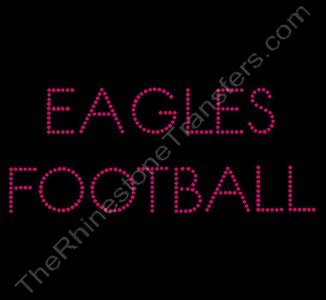 EAGLES FOOTBALL - Red - Rhinestone Design File Download