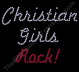 Christian Girls Rock! - Rhinestone Design File Download