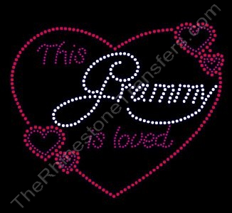 This Grammy is loved - Rhinestone Design File Download