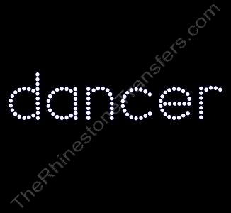 dancer - All Lower Case - Rhinestone Transfer