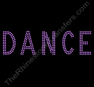 DANCE - 2 Rows of Stones - 7.6 Inches Wide - Pink - Rhinestone Transfer