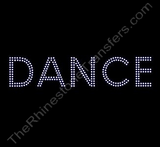 DANCE - 2 Rows of Stones - 11.8 Inches Wide - Clear - Rhinestone Transfer