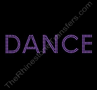 DANCE - 2 Rows of Stones - 11.8 Inches Wide - Pink - Rhinestone Transfer
