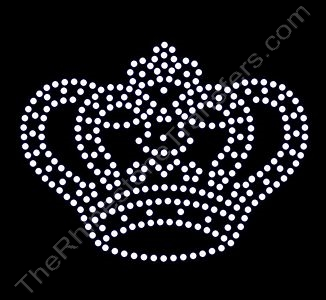 Crown - Small - CUSTOMIZE YOUR COLORS - Rhinestone Transfer