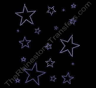 Stars - Scattered - Rhinestone Design File Download