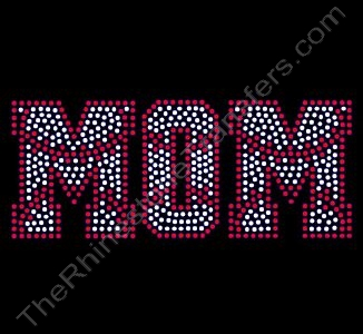 Baseball / Softball Stitched MOM 1 - Rhinestone Transfer