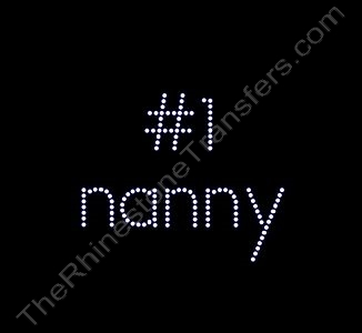 #1 nanny - Rhinestone Design File Download