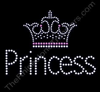 Princess - with Crown - Rhinestone Design File Download