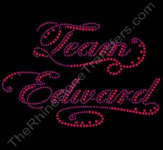 Team Edward - Rhinestone Transfer