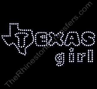 TEXAS girl - Rhinestone Transfer