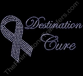 Destination Cure - with Ribbon - Clear - Rhinestone Transfer
